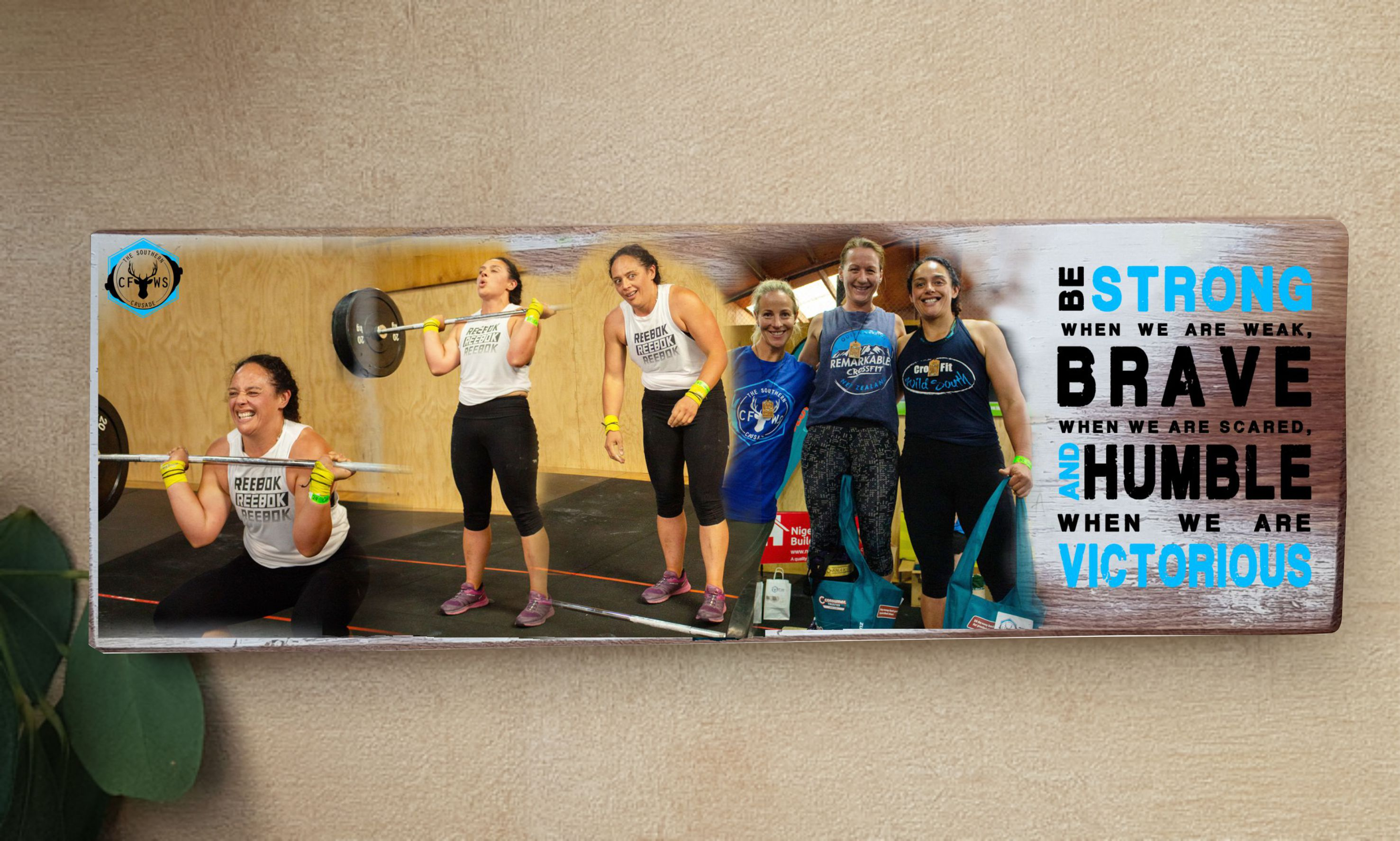 CrossFit Wild South Individualised Wallart.