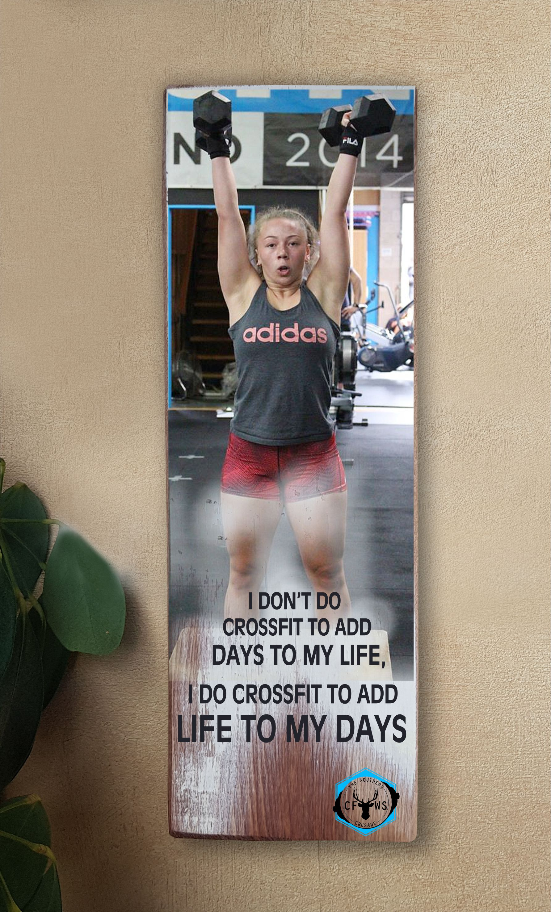 CrossFit Wild South Individualised Wallart