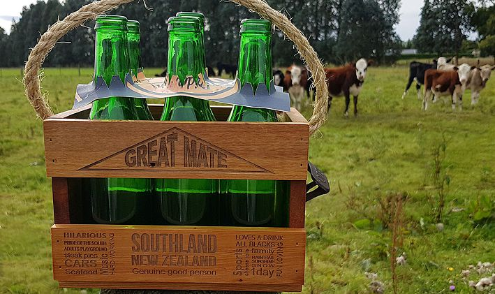 Recycled Rimu Mini Beer Crates for your Great Mate. NZ made.