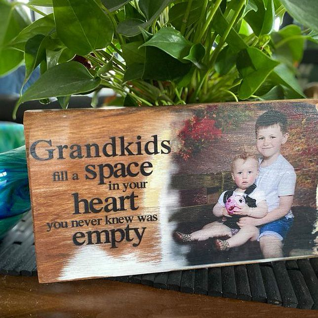 Personalised Wallart Giftware with your photo on Recycled Rimu. NZ made giftware for family and friends. Great Mothers Day or birthday presents. By Christine Summers Graphic Designer, Winton